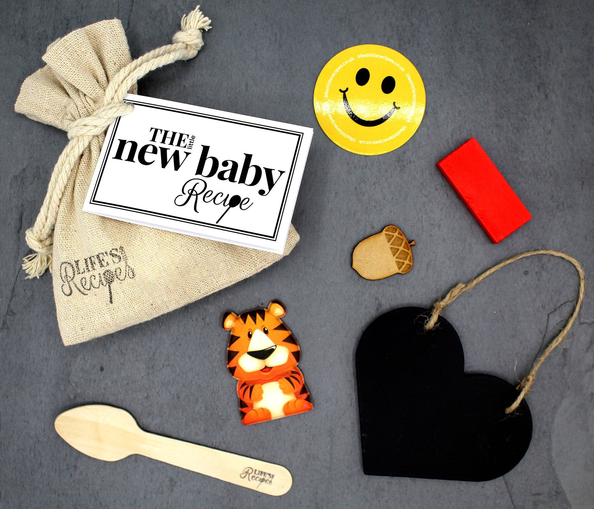 Our idea for thoughtful Gifts and sentimental gifts, the new baby recipe gift bag