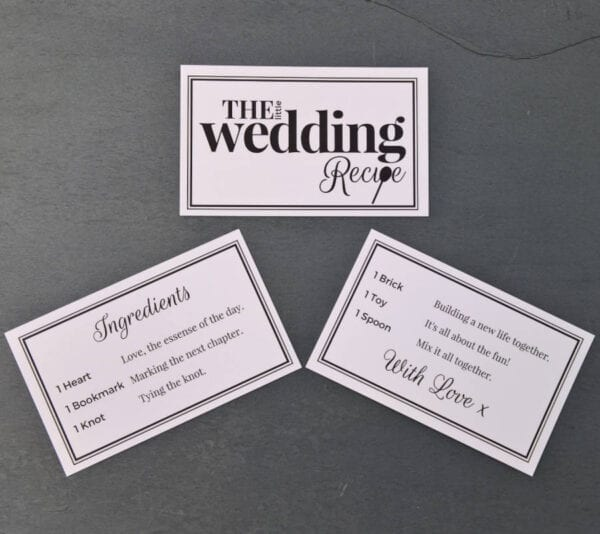 Little Wedding Recipe - Included Cards - Lifes Little Recipes