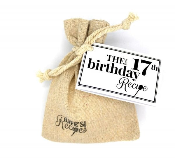 The Little 17th Birthday Recipe - Gift Bag - Lifes Little Recipes