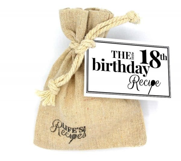 The Little 18th Birthday Recipe - Gift Bag - Lifes Little Recipes