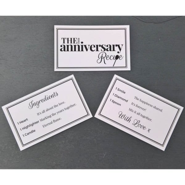 The Little Anniversary Recipe - Cards - Lifes Little Recipes