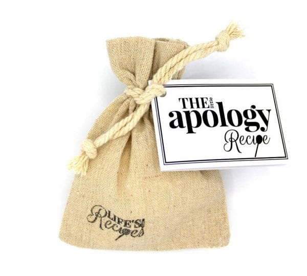 The Little Apology Recipe - Gift Bag - Lifes Little Recipes