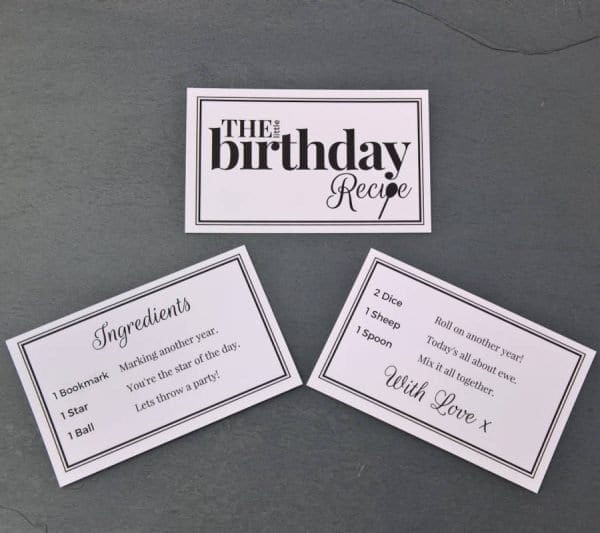 The Little Birthday Recipe - Cards - Lifes Little Recipes
