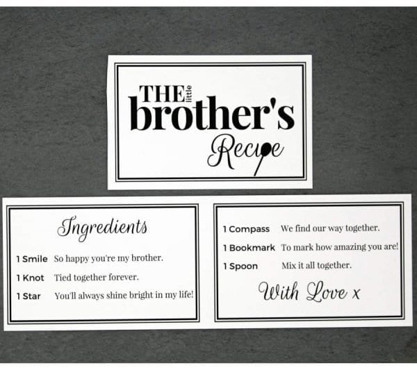 The Little Brothers Recipe - Cards - Lifes Little Recipes