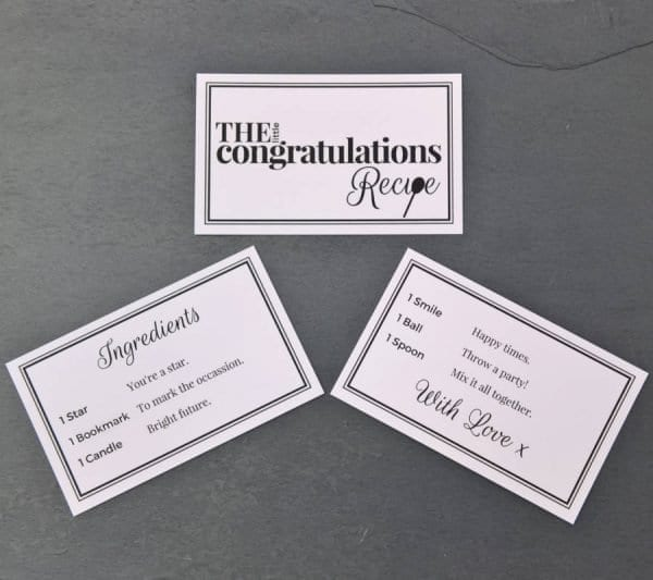 The Little Congratulations Recipe - Cards - Lifes Little Recipes