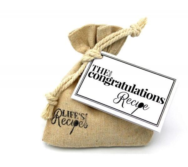 The Little Congratulations Recipe - Gift Bag - Lifes Little Recipes