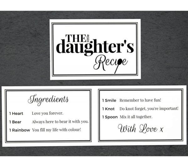 The Little Daughter Recipe - Cards - Lifes Little Recipes