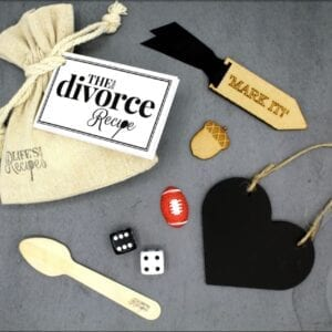 The Little Divorce Recipe - Gift Bag Contents - Lifes Little Recipes