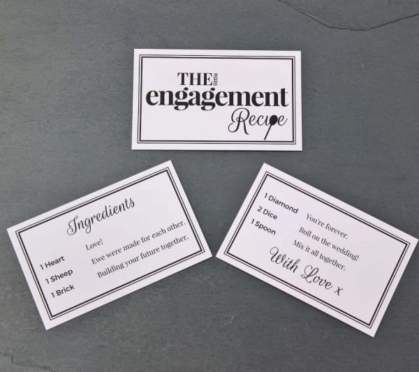 The Little Engagement Recipe - Cards - Lifes Little Recipes