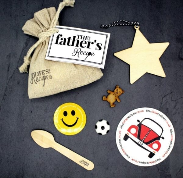 The Little Fathers Recipe - Gift Bag Contents - Lifes Little Recipes