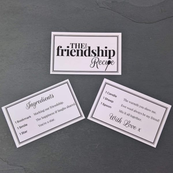 The Little Friendship Recipe - Cards - Lifes Little Recipes