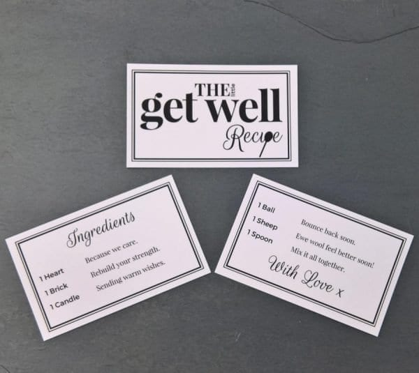 The Little Get Well Recipe - Cards - Lifes Little Recipes