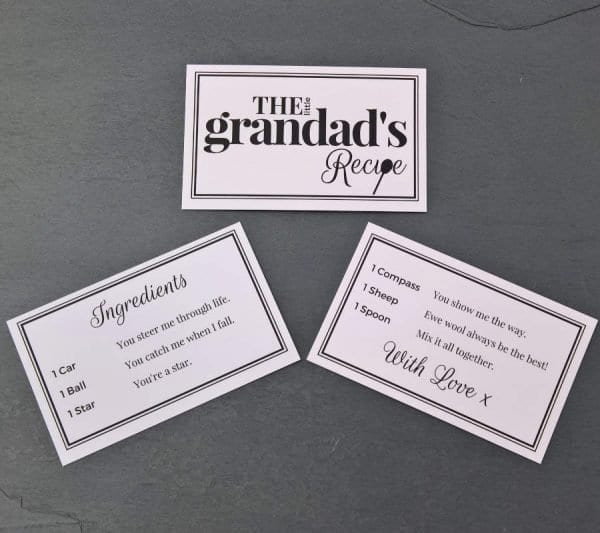 The Little Grandads Recipe - Cards - Lifes Little Recipes