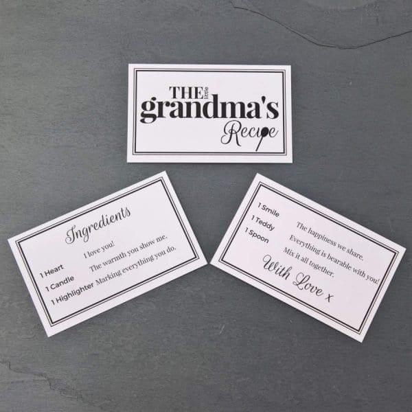 The Little Grandmas Recipe - Cards - Lifes Little Recipes