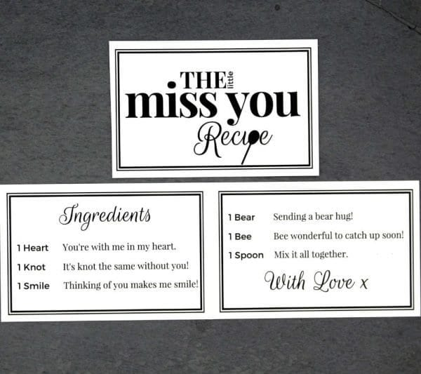 The Little Miss You Recipe - Cards - Lifes Little Recipes