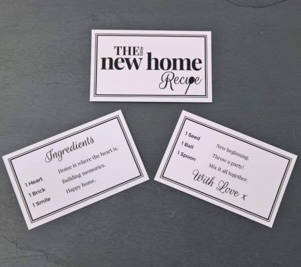 The Little New Home Recipe - Cards - Lifes Little Recipes