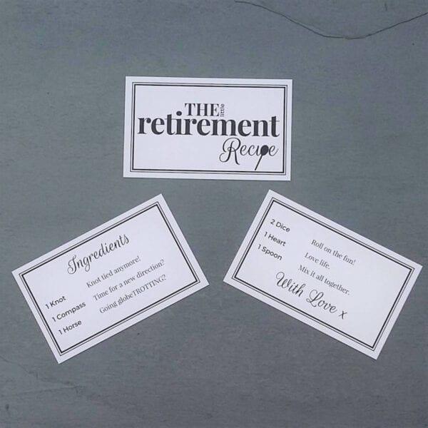 The Little Retirement Recipe - Cards - Lifes Little Recipes