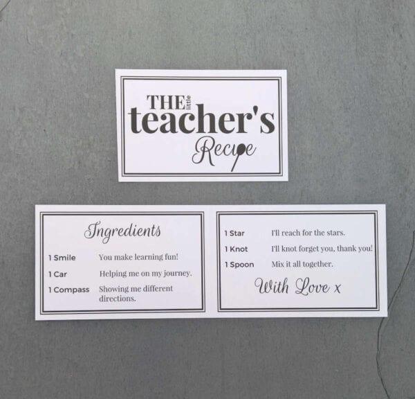 The Little Teachers Recipe - Cards - Lifes Little Recipes