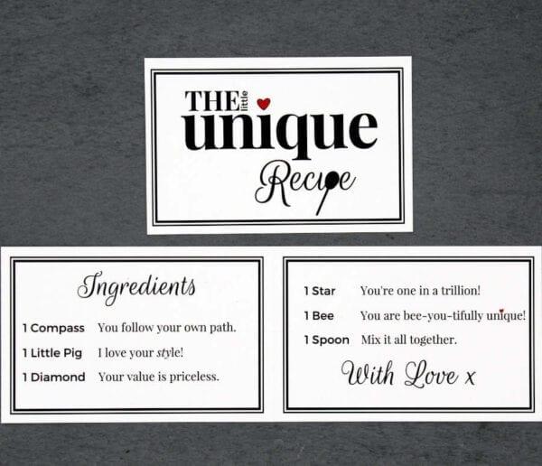 The Little Unique Recipe - Cards - Lifes Little Recipes